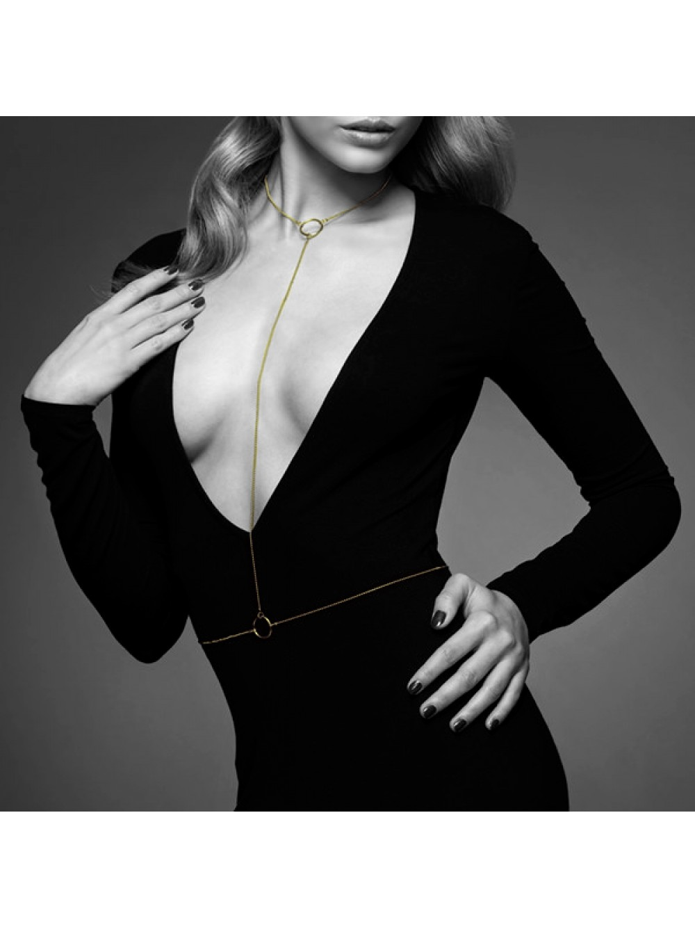 THE MAGNIFIQUE COLLECTION BODY CHAIN I BIJOUX INDISCRETS GOLDEN