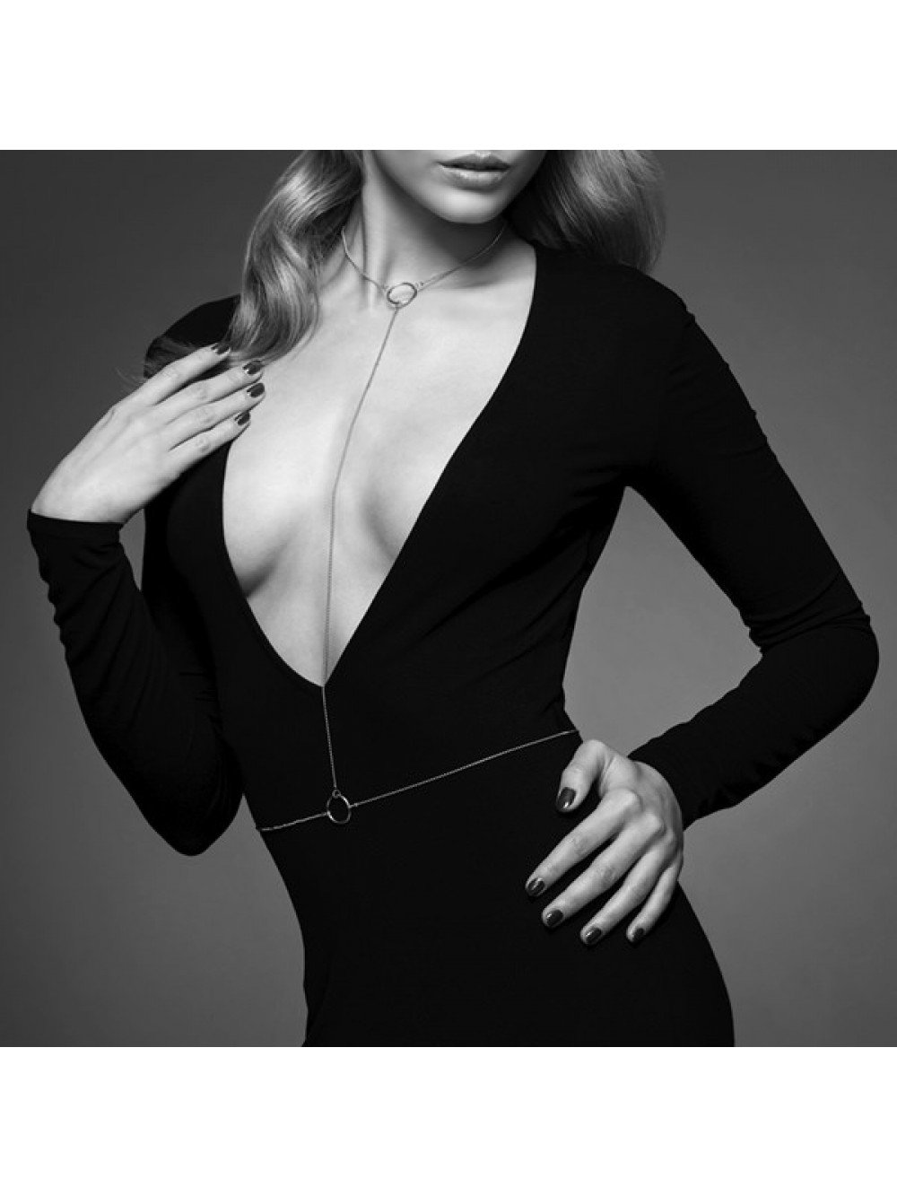 THE MAGNIFIQUE COLLECTION BODY CHAIN I BIJOUX INDISCRETS SILVER