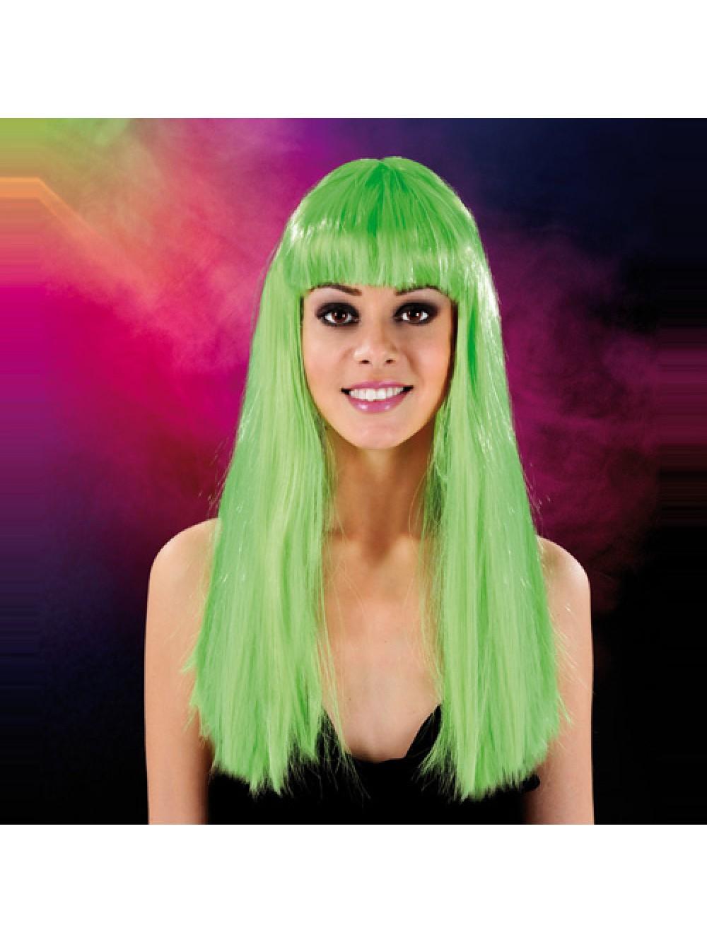 Cabaret Wig Green Long 3479225410029