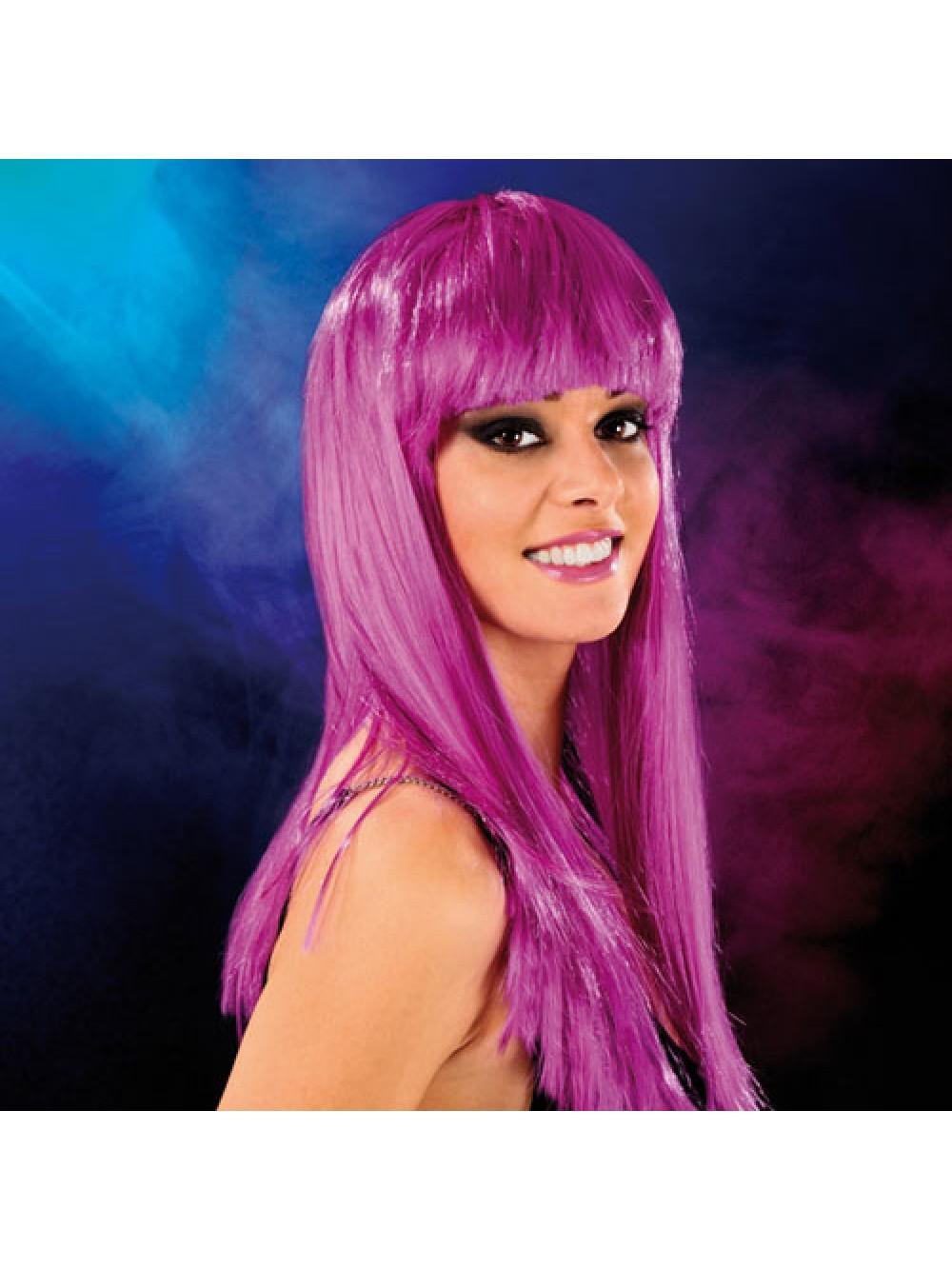Cabaret Wig Purple Long 3479225410081