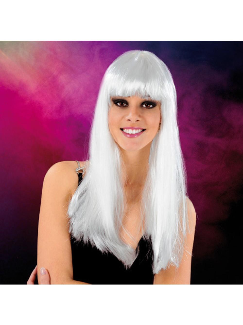 Cabaret Wig White Long 3479225410067