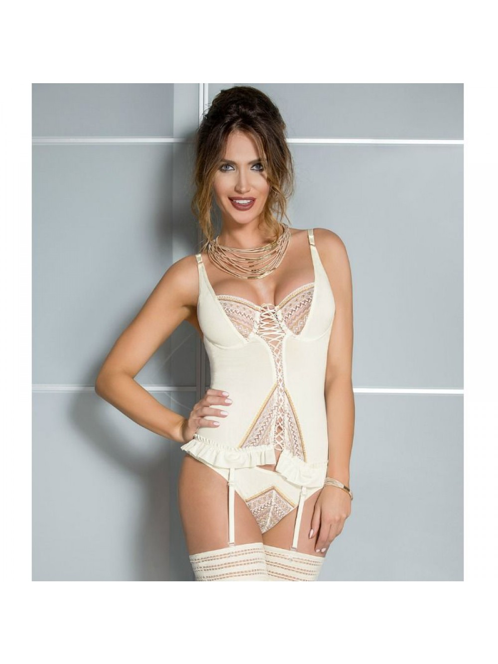 CASMIR CONNIE CORSET CREAM COLOR SIZE L/XL 5901691996007
