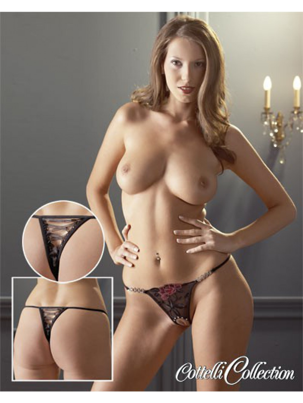 CROTCHLESS ROSE THONG 4024144128358