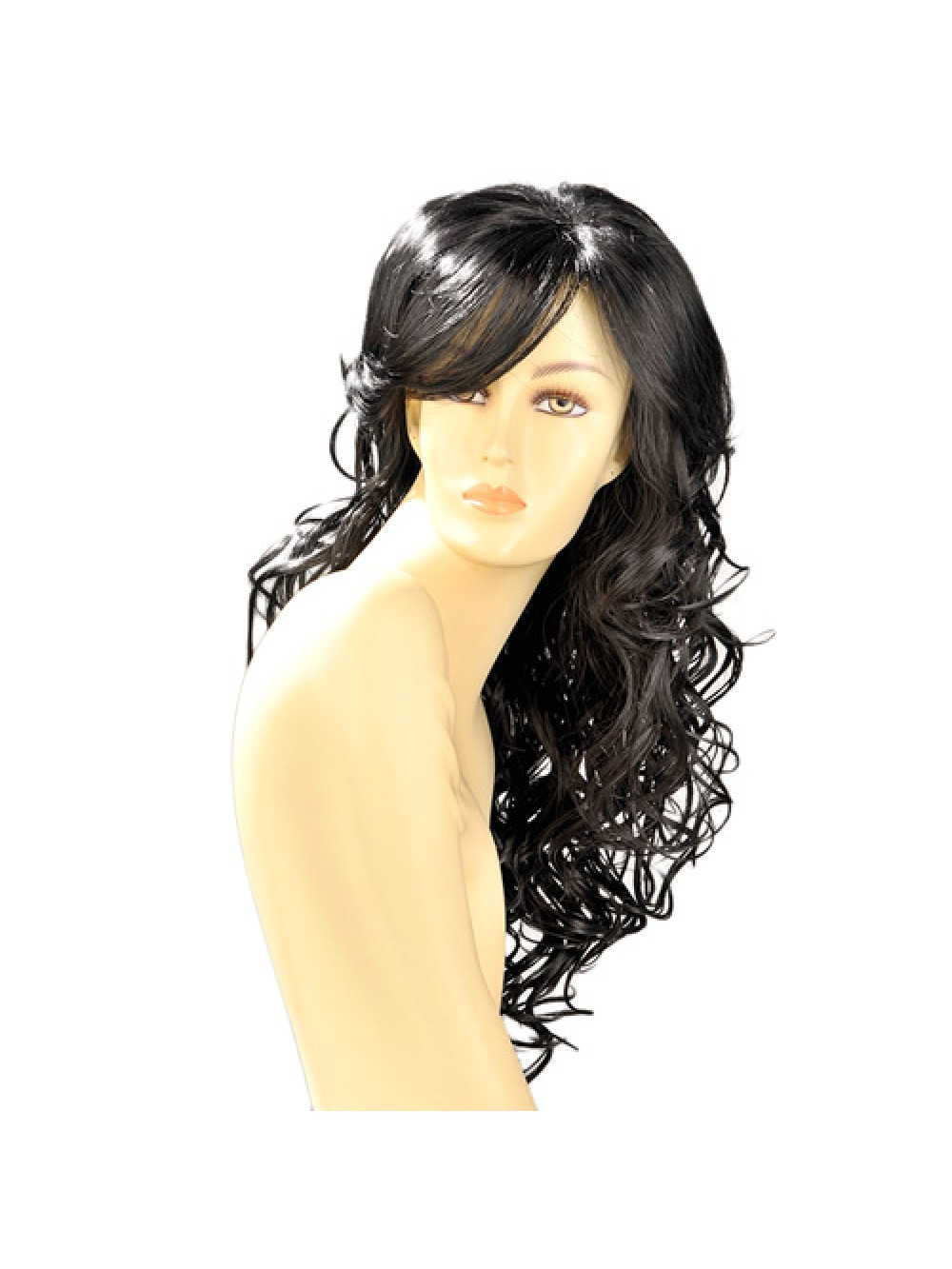 Dareen Black Wavy Long Wig 3479225402925
