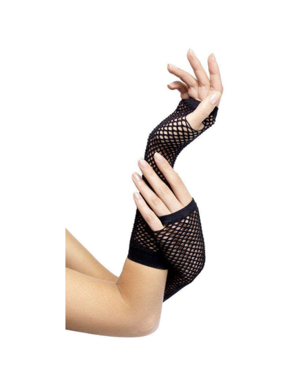 Fishnet Gloves Long Black 5020570348727