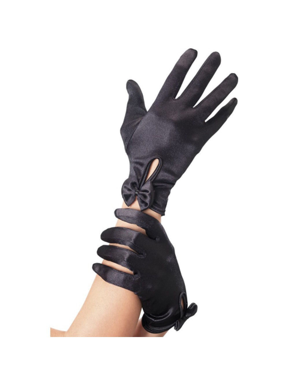 Gloves Short Black with Bow 5020570038321