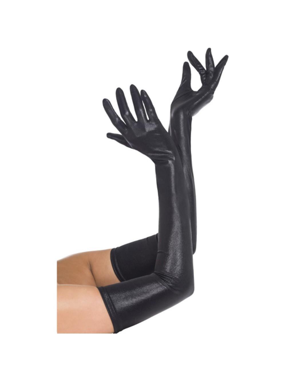 Gloves Wet Look Black 5020570940785