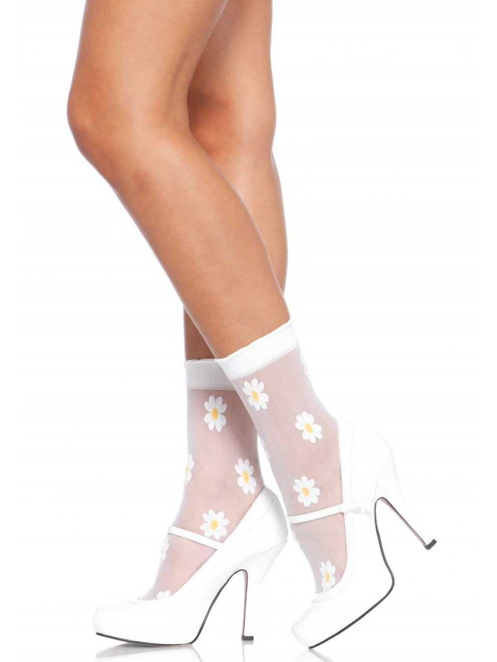ANKLE HIGHS WITH FLOWER PATTERN 0714718503660