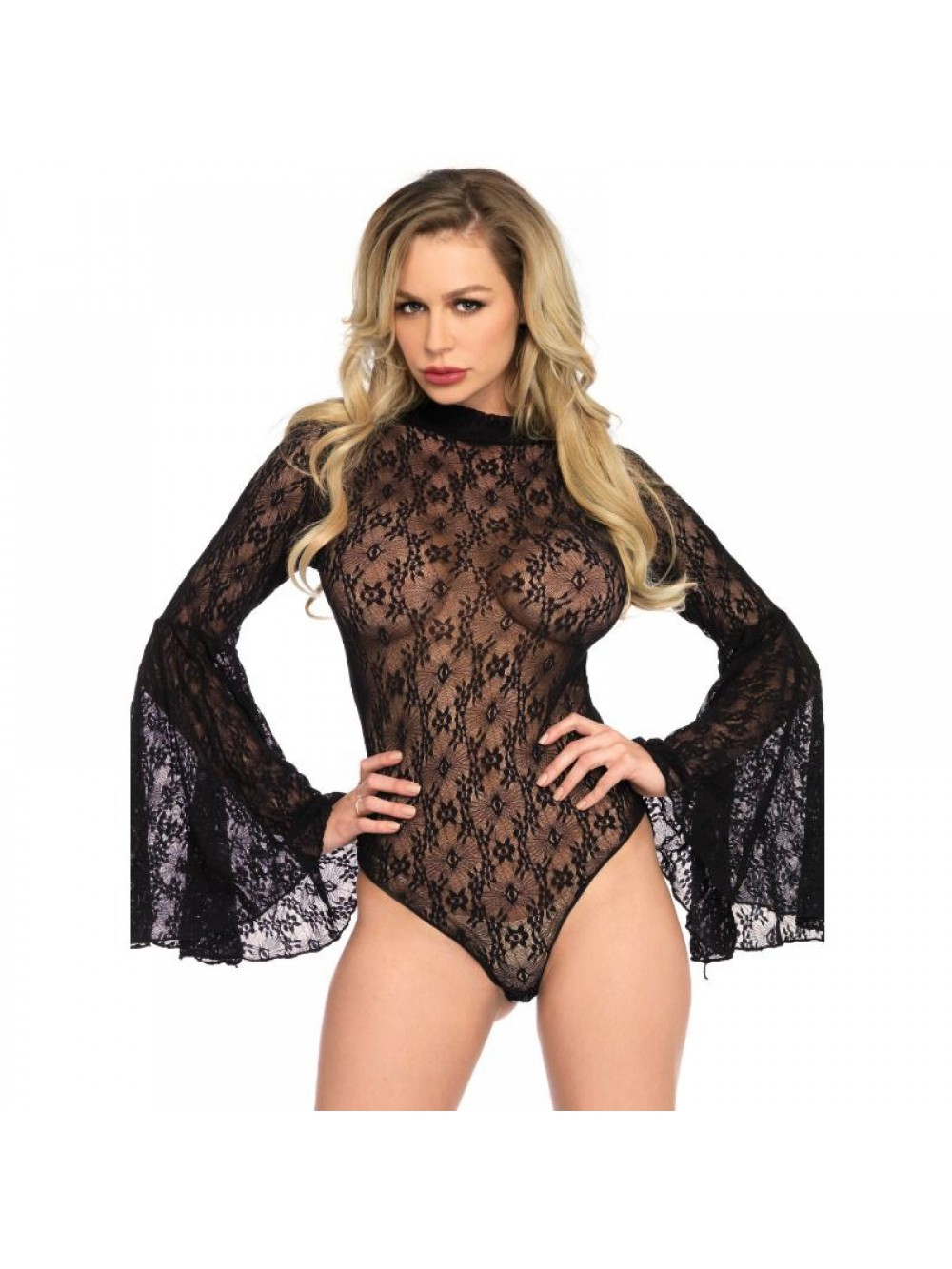 LACE BELL SLEEVE TEDDY ONE SIZE 714718530567