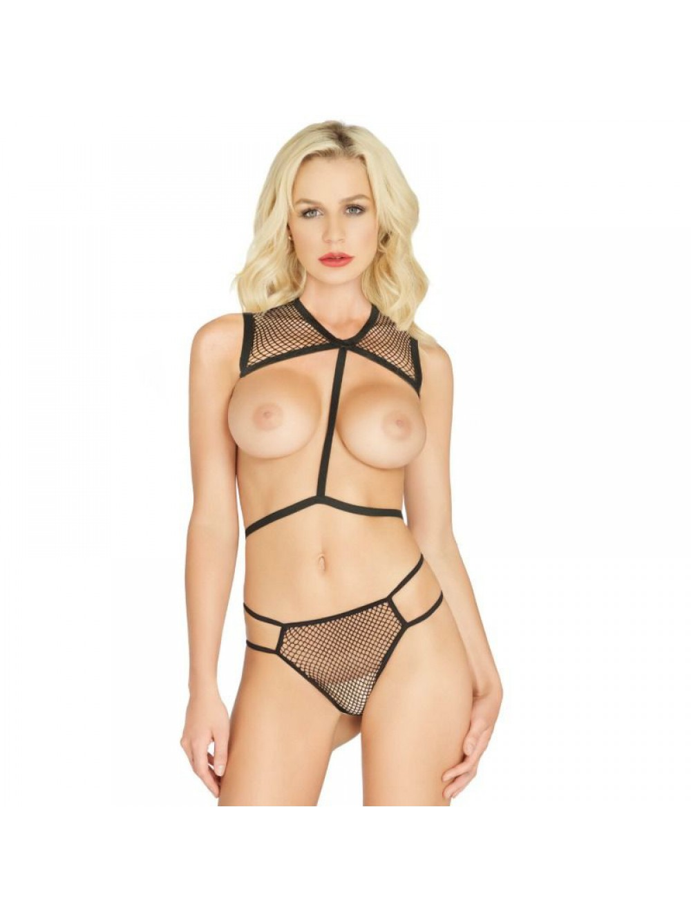 NET BODY HARNESS AND G-STRING 81538 - ONE SIZE 714718524078