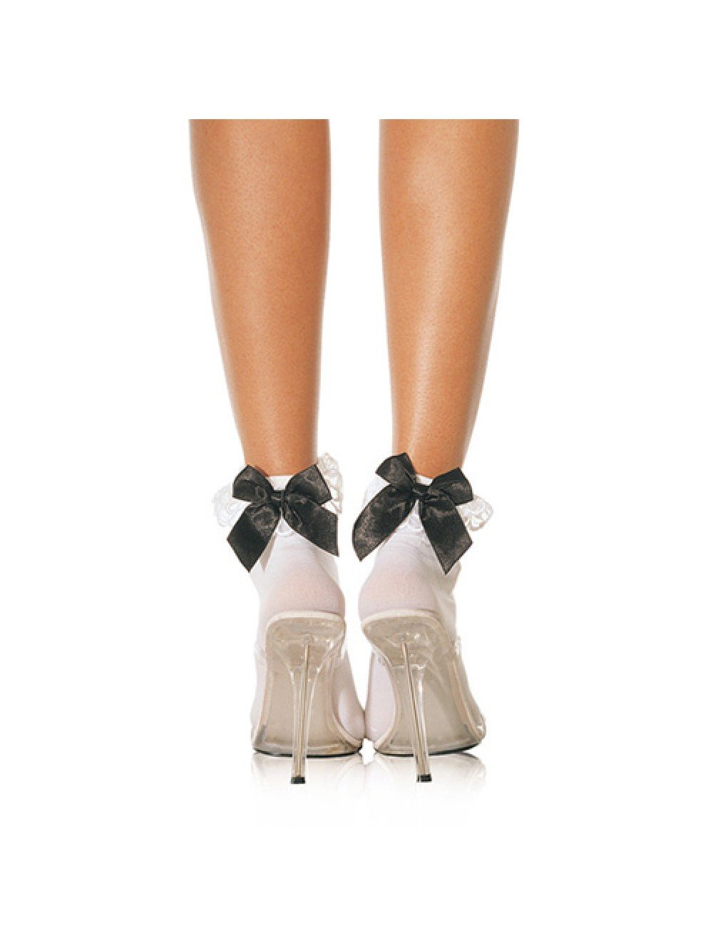 Leg Avenue Ruffle With Satin Bows Anklet UK 8 to 14 0714718004617