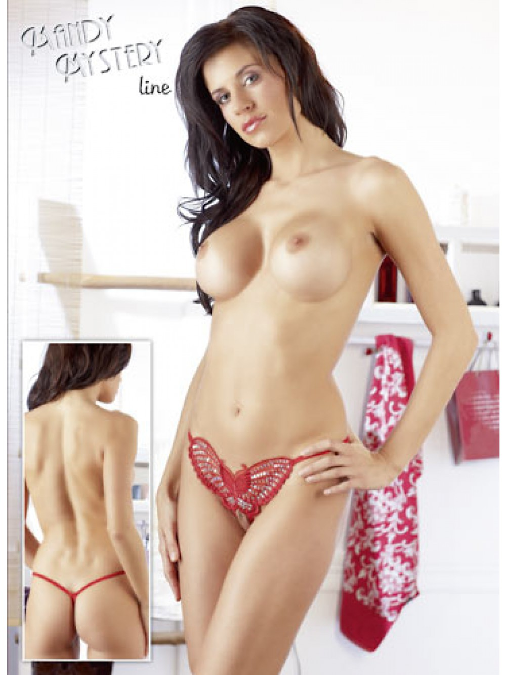 BUTTERFLY THONG RED 4024144260362