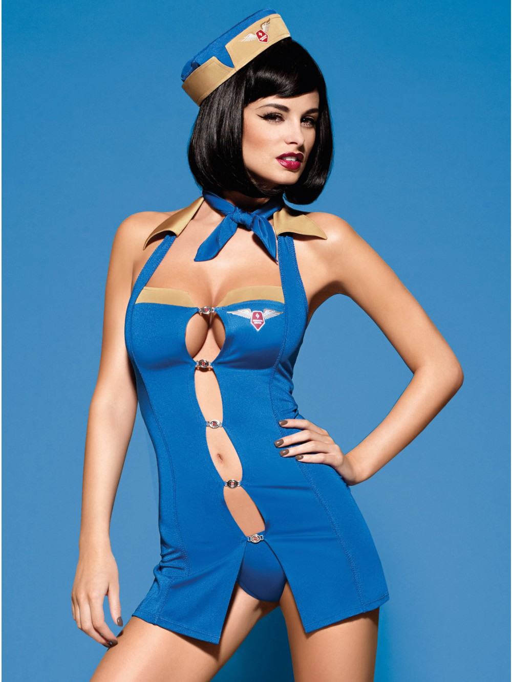 OBSESSIVE AIR HOSTESS COSTUME 5900308554975