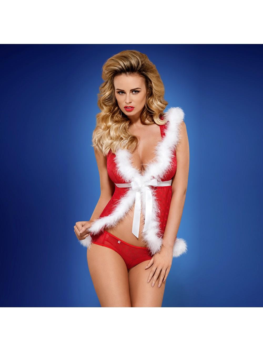OBSESSIVE CHRISTMAS COSTUME SANTACUTIE PEIGNOIR 5901688211328