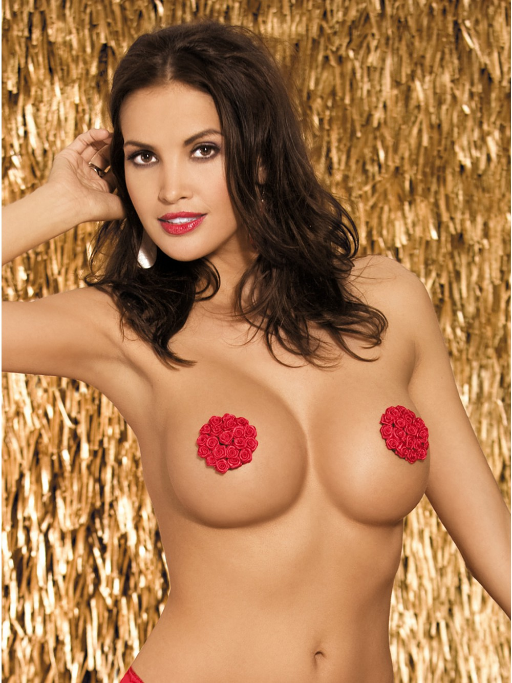 OBSESSIVE LUCKY NIPPLE COVERS RED 5900308553619