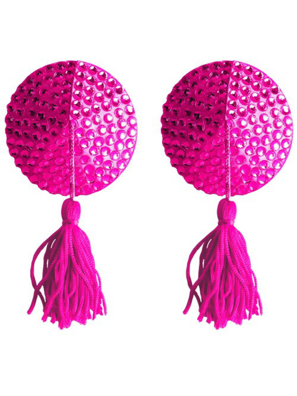ROUND NIPPLE TASSELS OUCH! NIPPLE COVERS PINK 8714273948137