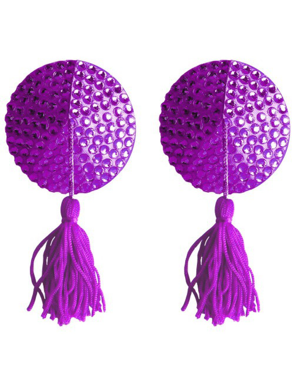 ROUND NIPPLE TASSELS OUCH! NIPPLE COVERS PURPLE 8714273948144