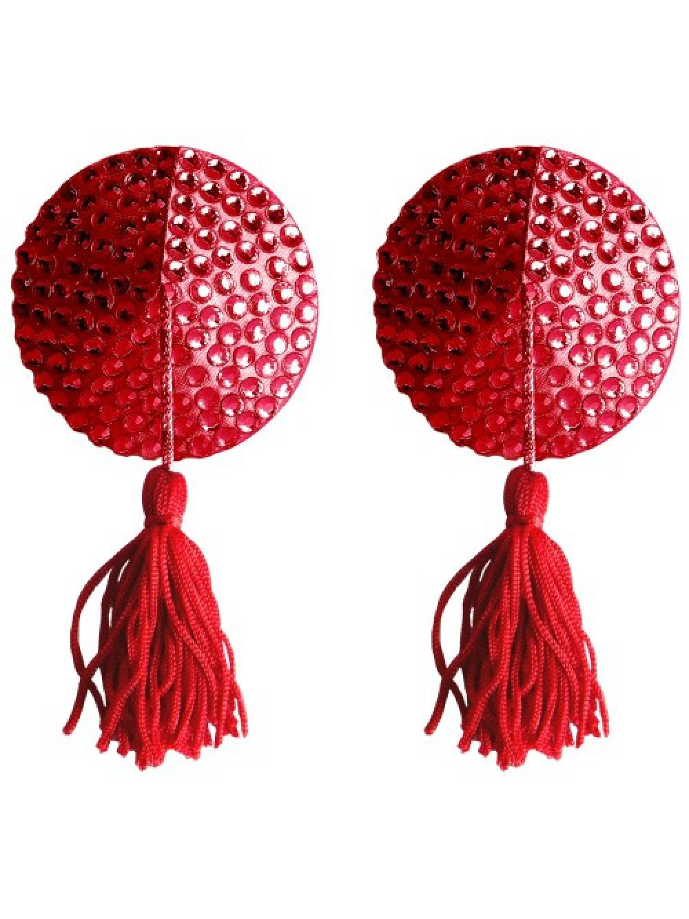 ROUND NIPPLE TASSELS OUCH! NIPPLE COVERS RED 8714273948168