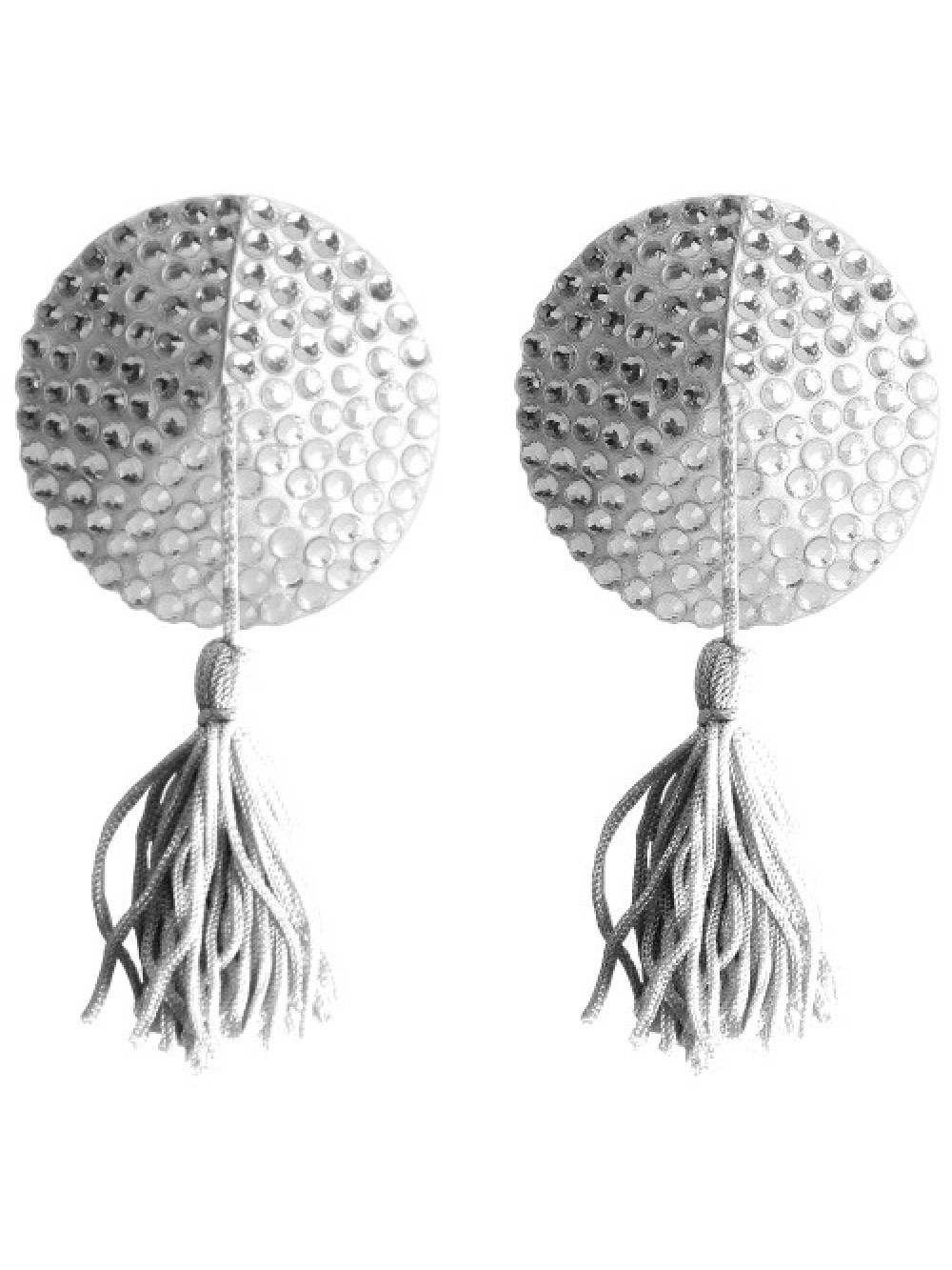ROUND NIPPLE TASSELS OUCH! NIPPLE COVERS WHITE 8714273948175