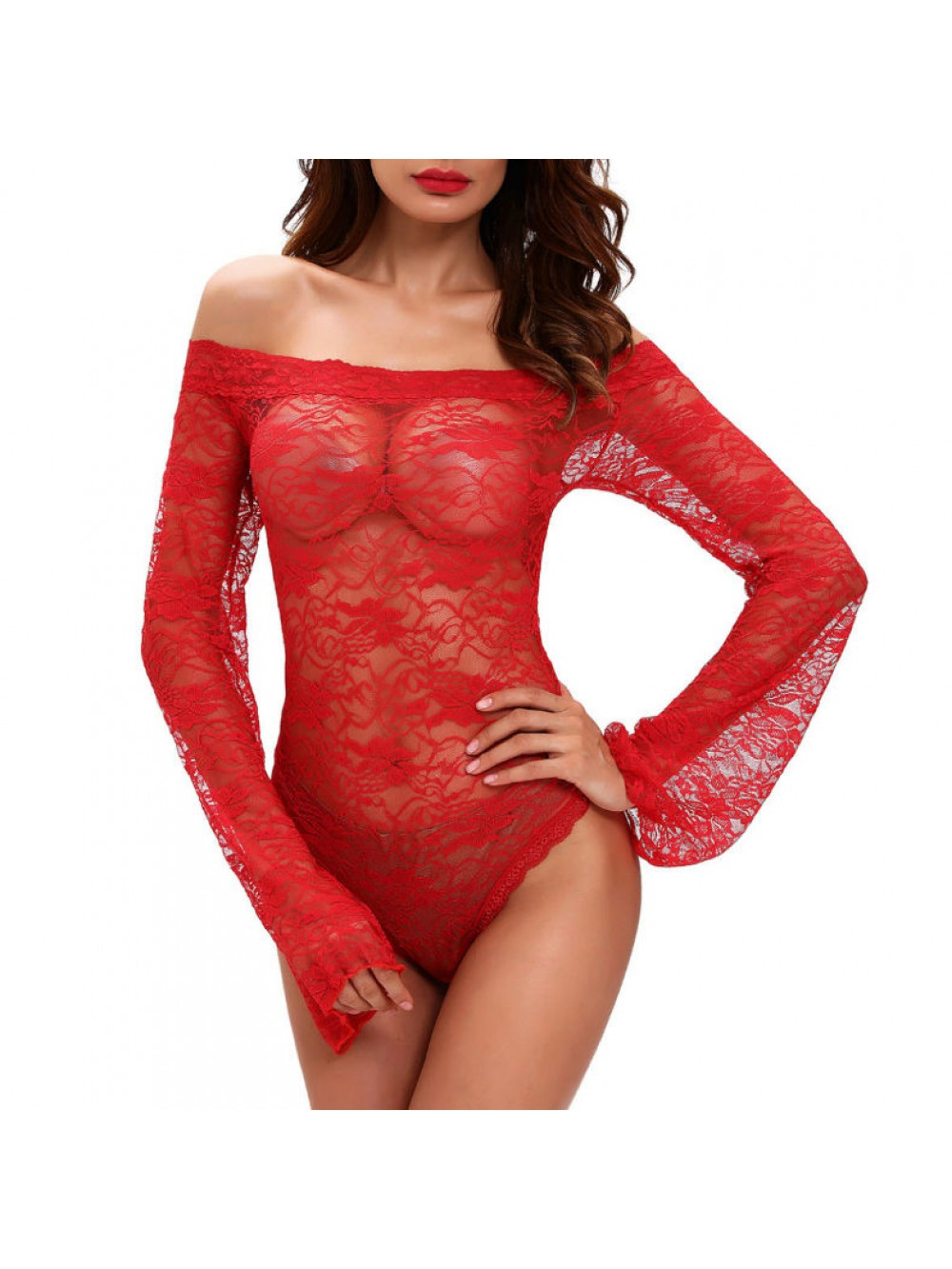 QUEEN LINGERIE TEDDY RED M-L 714569757359