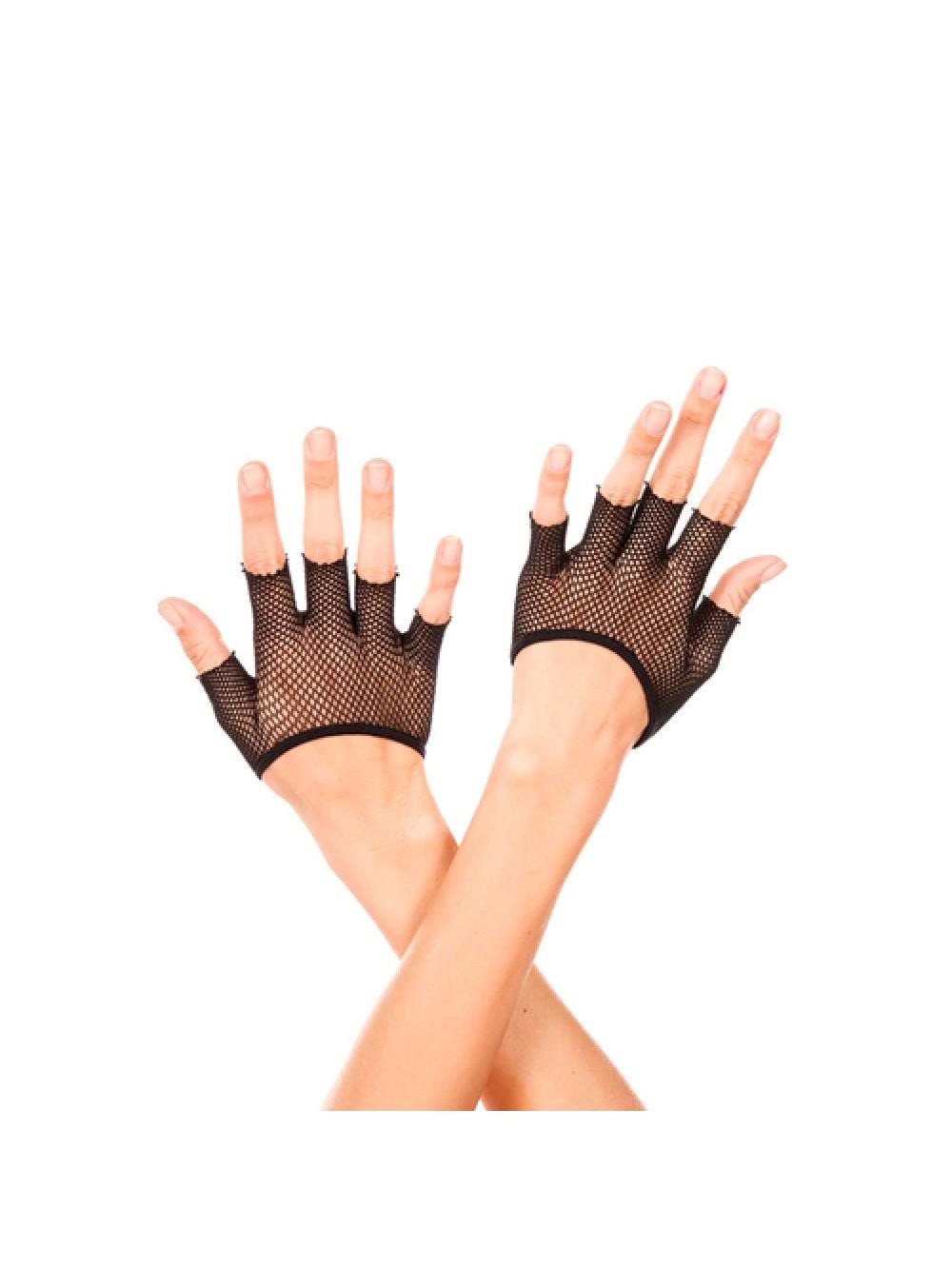 Short fishnet fingerless gloves BLACK 849450025023
