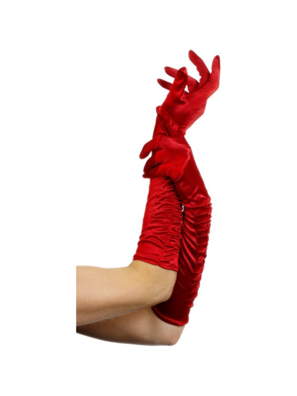 Temptress Gloves Red Long  46cm/18 inches 5020570263457