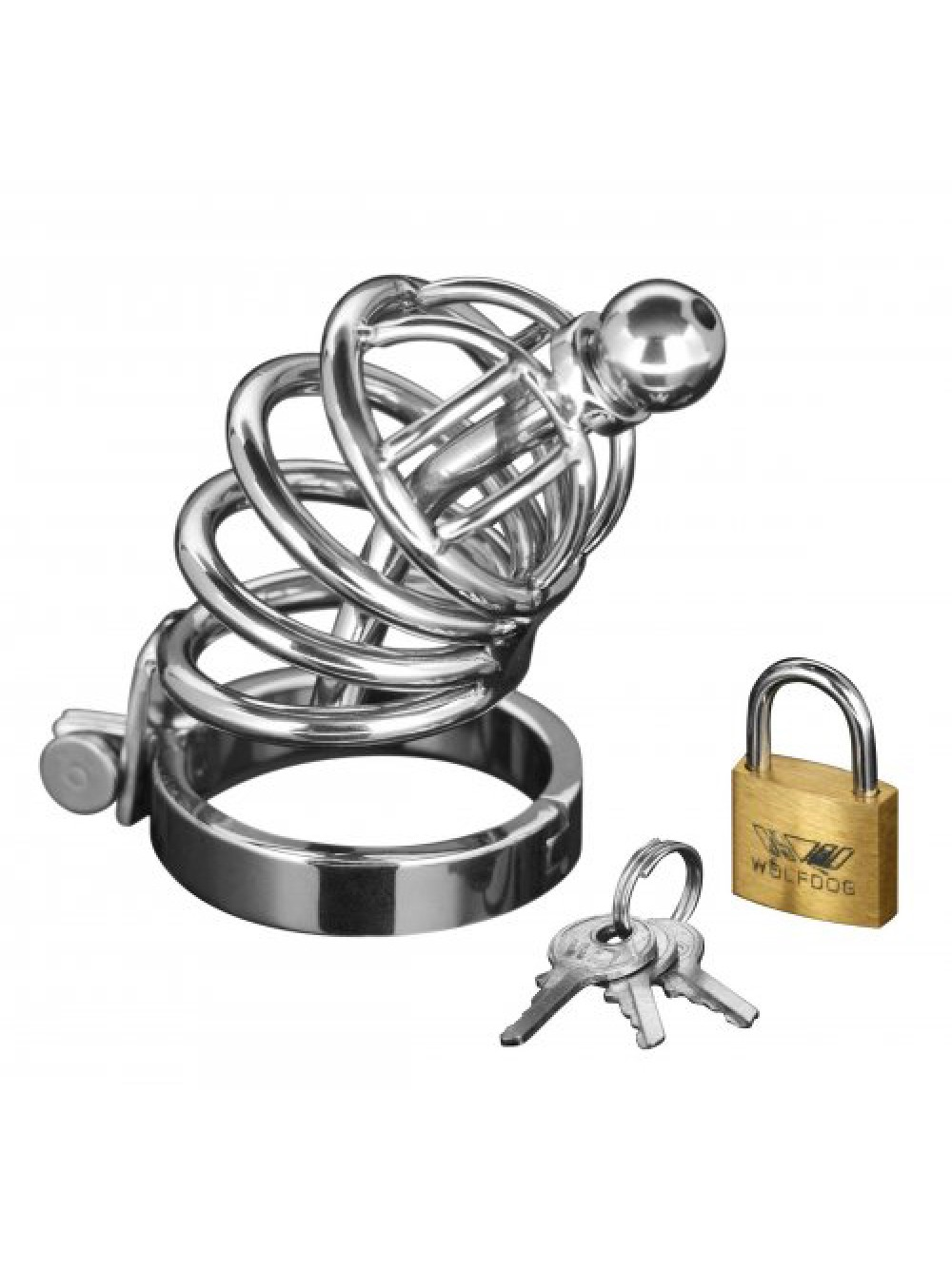 GABBIA DI CASTITA' ASYLUM 6 RING LOCKING CHASTITY CAGE