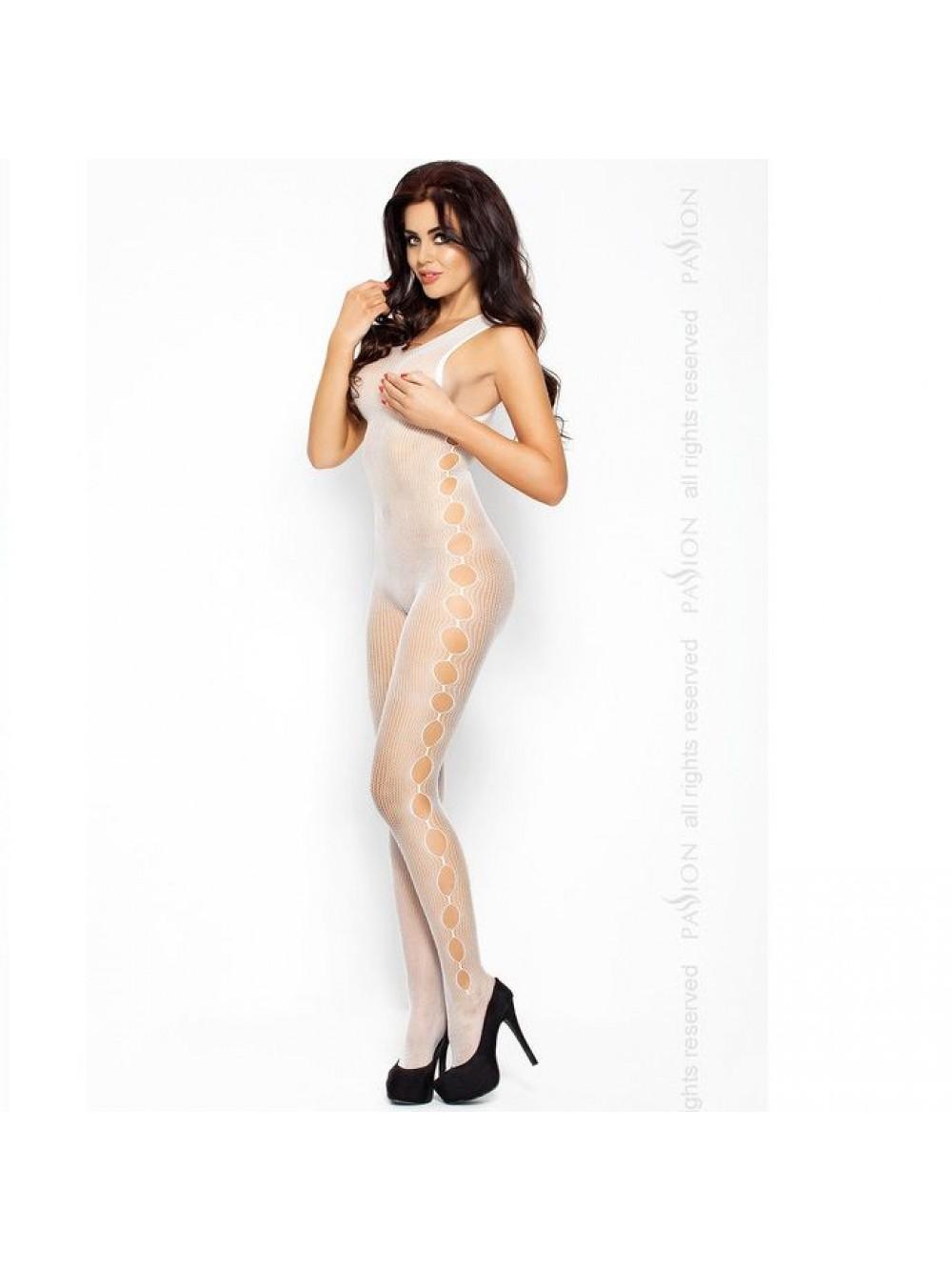 Passione Aperto lato di chiusura della calza del corpo Bianco