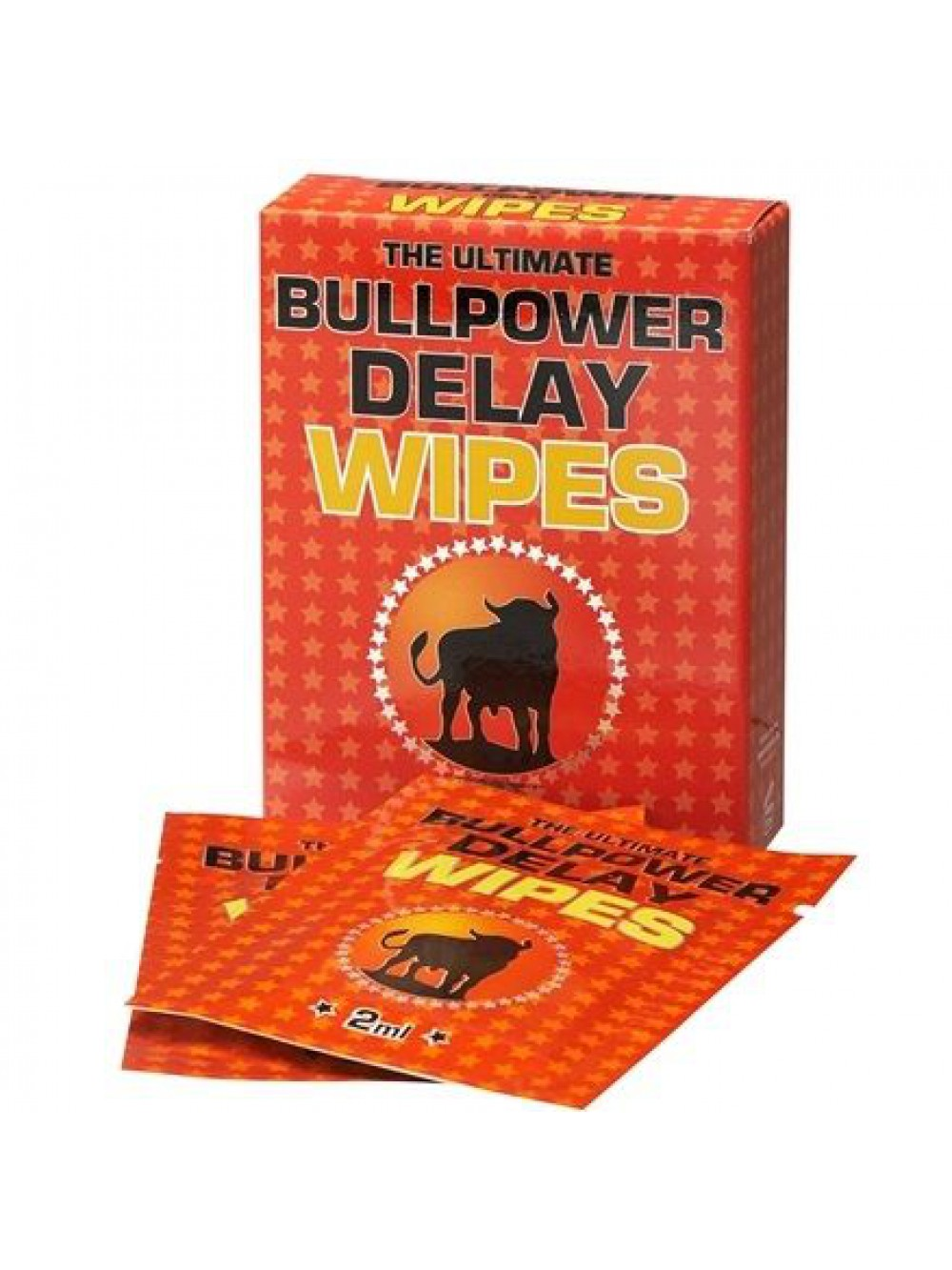 6 Bustine ritardanti monouso Bull Power Wipes Delay