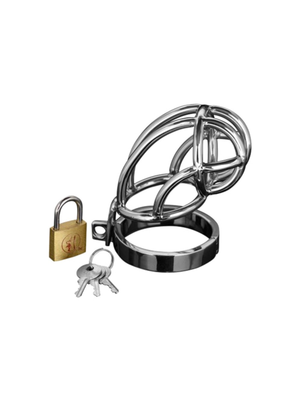 GABBIA DI CASTITA' CAPTUS STEEL LOCKING CHASTITY CAGE