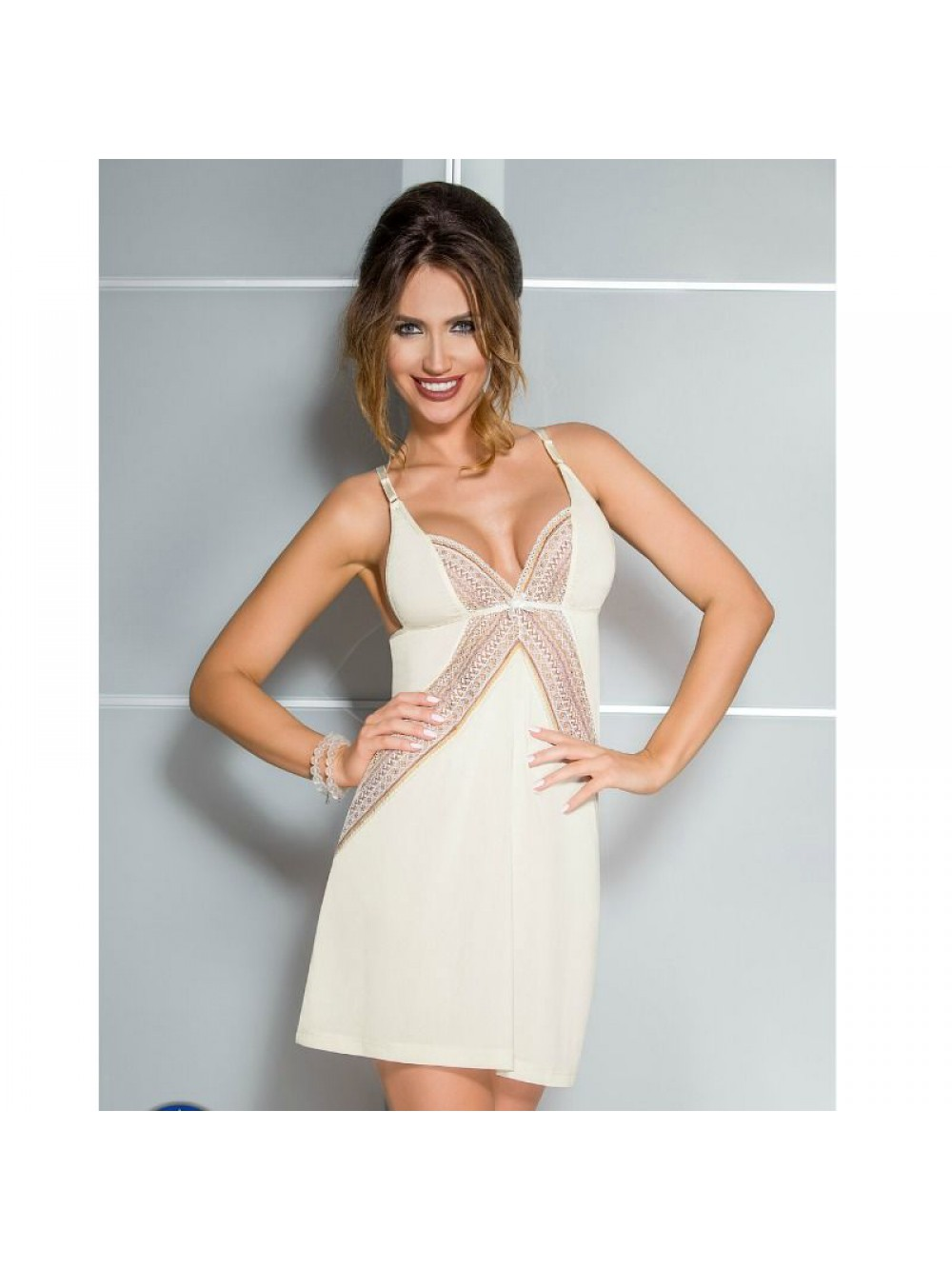 CONNIE CHEMISE CREAM COLOR SIZE S/M