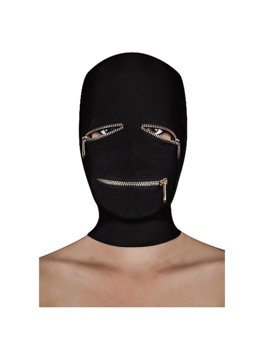 Maschera Extreme Zipper con Zip sugli Occhi e sulla Bocca