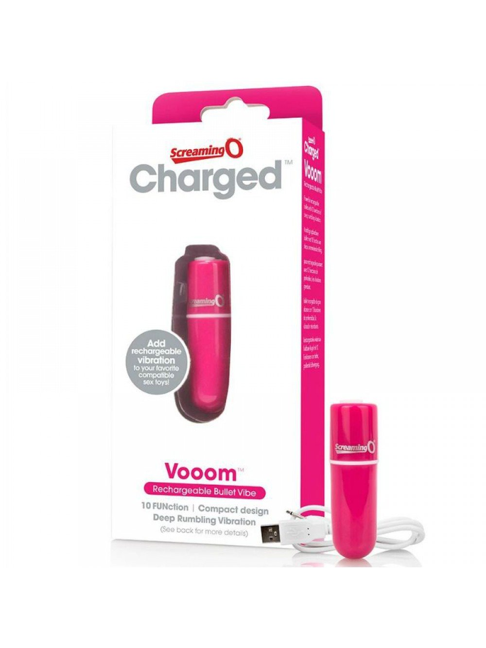 SCREAMING O RECHARGEABLE VIBRATING BULLET VOOOM PINK