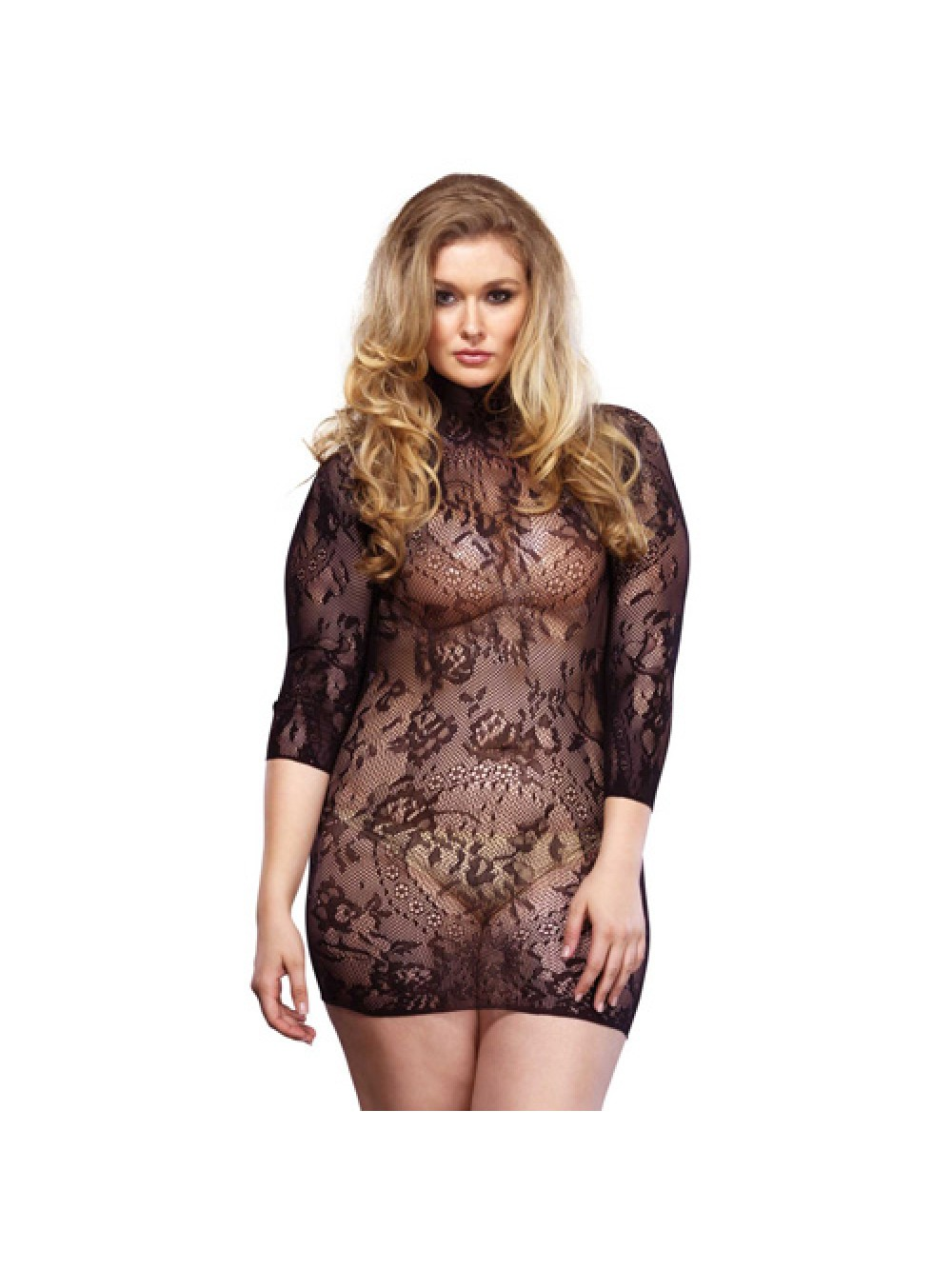 Leg Avenue pizzo floreale Mini Dress UK da 16 a 18