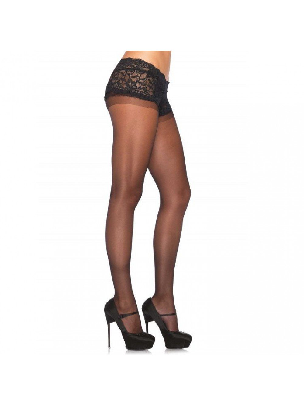Leg Avenue Sheer Boyshort Calze UK 8 a 14