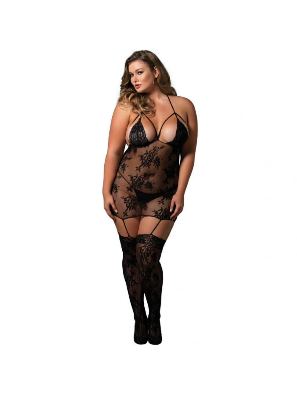 Leg Avenue cinghietti bretella Bodystocking UK da 16 a 18