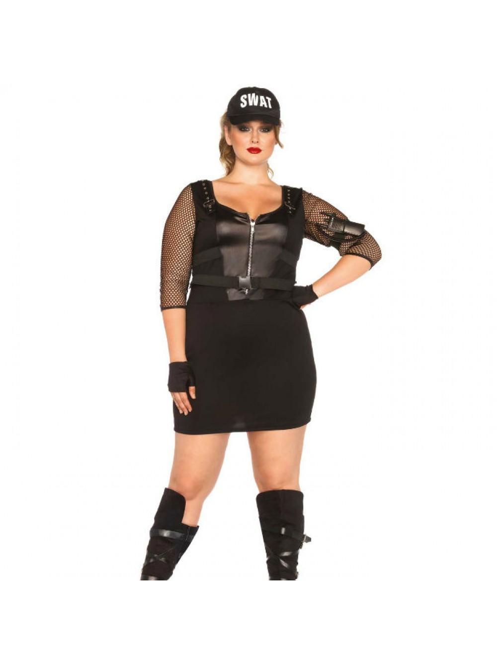 Leg Avenue 85421X - Costume da agente SWAT Donna, 48-50