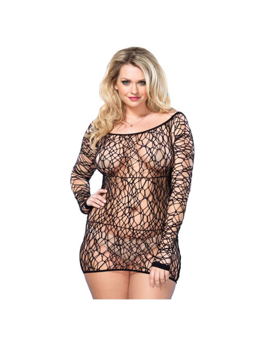 Leg Avenue Web Net mini abito nero UK da 16 a 18