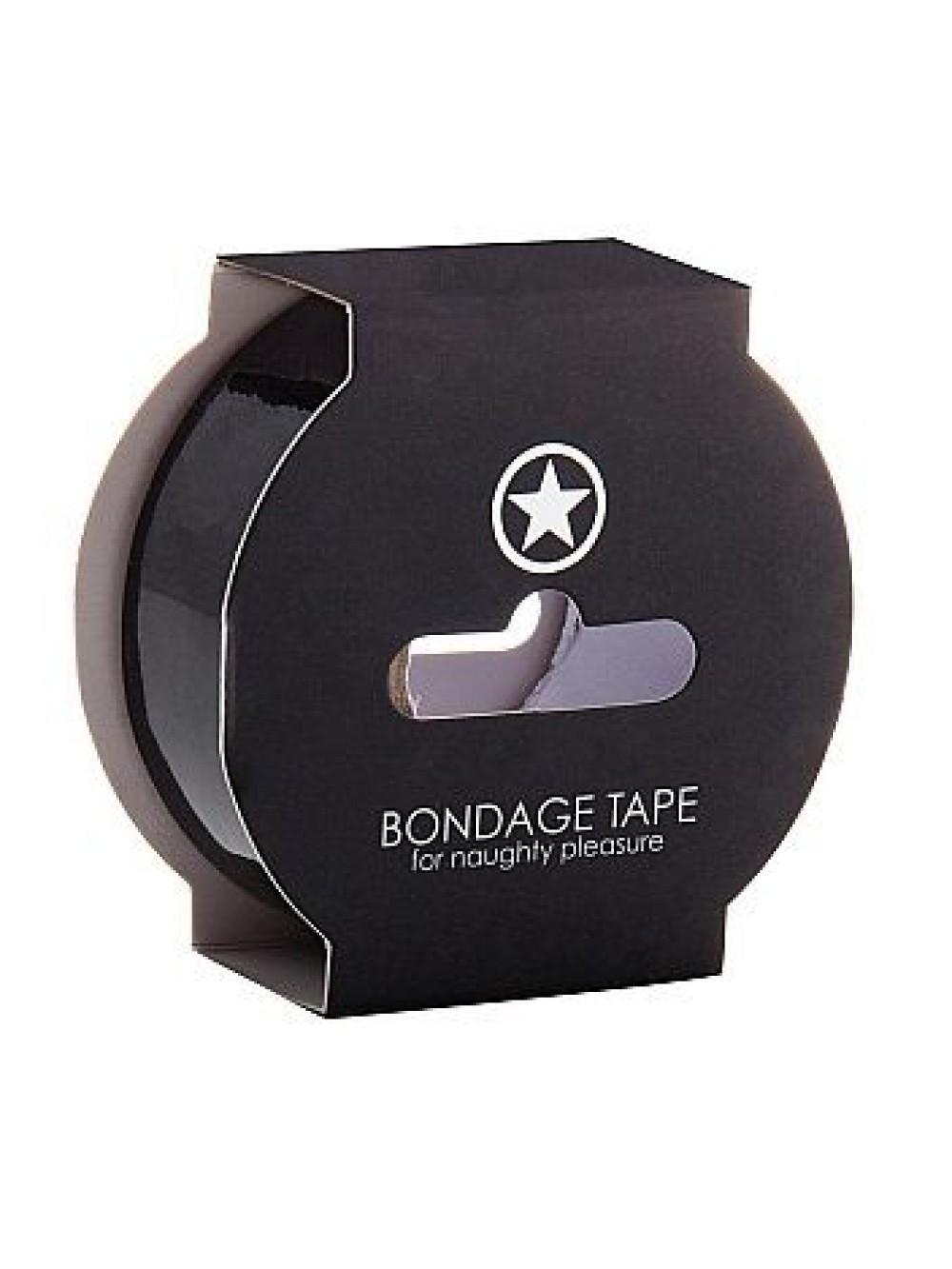 Ouch! Nastro da Bondage Non Adesivo, 17.5 Metri, Nero