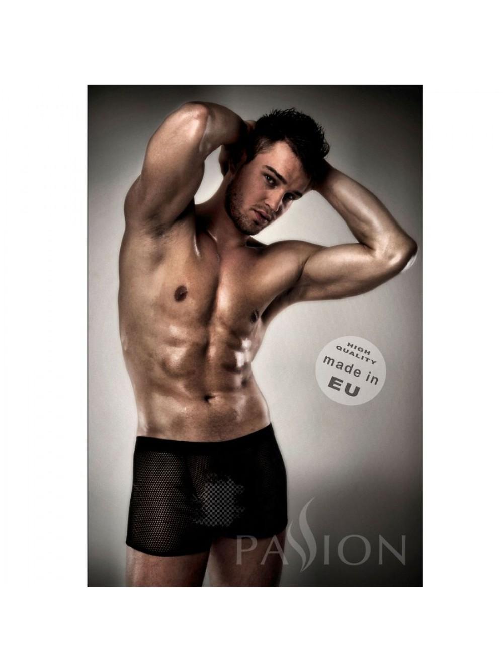 Passione Menswear Uomini Network corto - PASSION 004, Nero (Schwarz), L/XL
