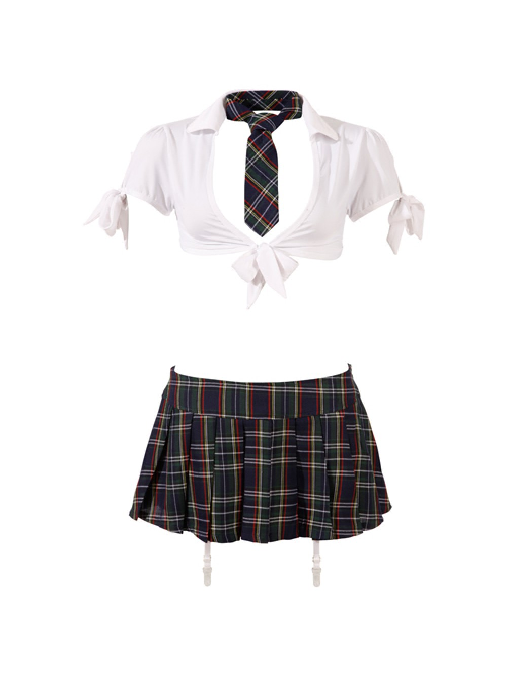 Cottelli Collection - 24702504030, Costume per bambine e ragazze, beige (tartan), Medium