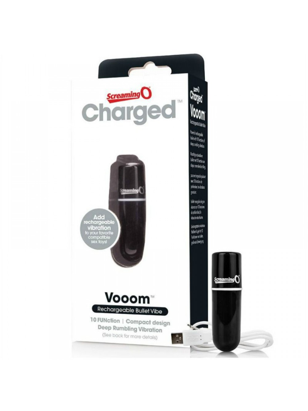 SCREAMING O RECHARGEABLE VIBRATING BULLET VOOOM BLACK
