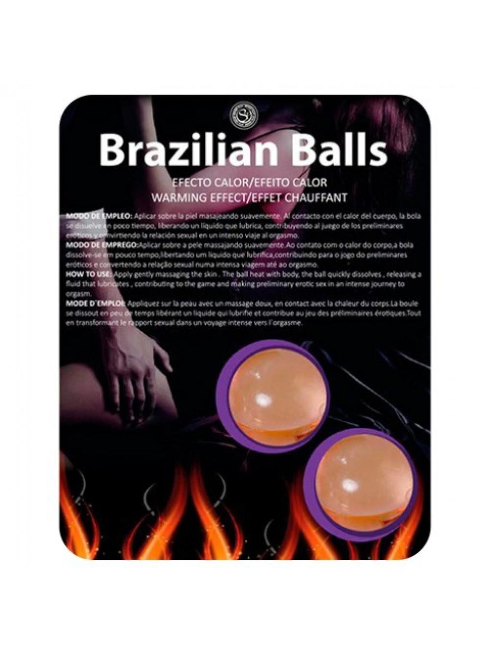 BRAZILIAN LUBRICANT BALLS WARM EFFECT 2 x 4GR