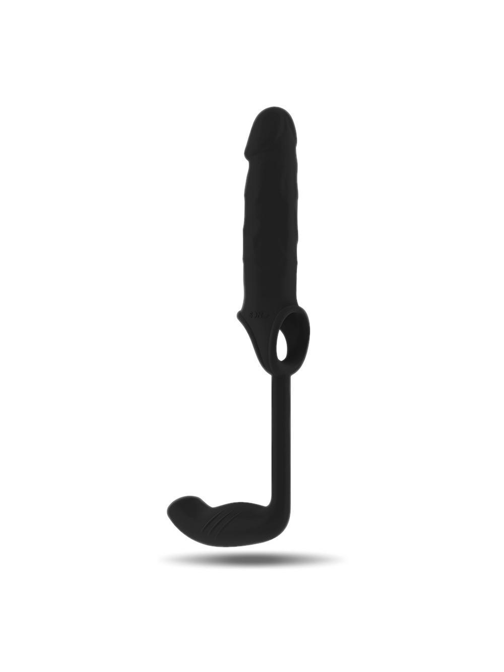 Sono SON034BLK Estensione per il Pene con Plug Anale, Nero - 1 Prodotto