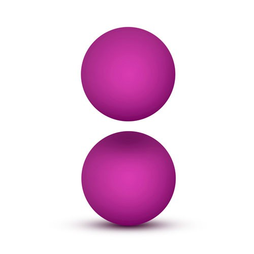 Luxe Pink Double O Kegel Balls Weighted 1.3 Ounce 855215007166