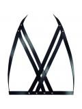 BIJOUX INDISCRETS MAZE HALTER BRA HARNESS BLACK 8436562011574 toy