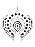 MIMI FLAMBOYANT BODY ORNAMENTS BIJOUX INDISCRETS BLACK AND GREY photo