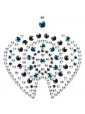 MIMI FLAMBOYANT METALLIC BODY ORNAMENTS BIJOUX INDISCRETS BRONZE AND BLUE photo