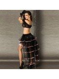 SKIRT CR-3442 BLACK AND PINK 5902013011866