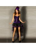 SKIRT CR-3442 BLACK AND PURPLE 5902013011965